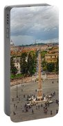 Piazza Del Popolo - Impressions Of Rome Portable Battery Charger