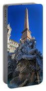 Piazza Navona Fountain Portable Battery Charger