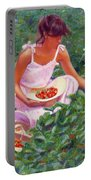 Picking Strawberries Portable Battery Charger