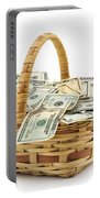 Picnic Basket Full Of Money Portable Battery Charger
