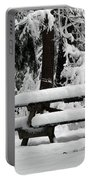 Picnic Table In The Snow Portable Battery Charger