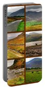 Autumn Picture Window Of The Lake District Portable Battery Charger