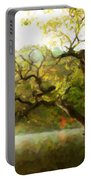 Picturesque Foggy Lake Portable Battery Charger