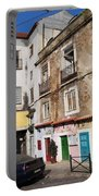 Picturesque Houses In Lisbon Portable Battery Charger