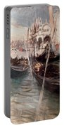 Pier And Saint Marc In Venice Portable Battery Charger