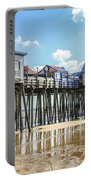 Pier At Low Tide Portable Battery Charger