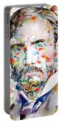 Pierre-auguste Renoir Watercolor Portrait Portable Battery Charger
