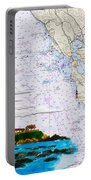 Pigeon Point Lighthouse On Noaa Nautical Chart Portable Battery Charger