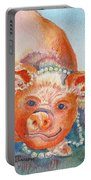 Piggy In Pearls Portable Battery Charger