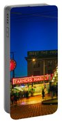 Pike Place Market Portable Battery Charger by Inge Johnsson