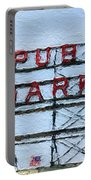 Pike Place Market Portable Battery Charger by Linda Woods