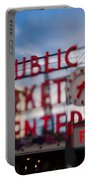 Pike Place Public Market Neon Sign Portable Battery Charger