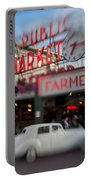 Pike Place Publice Market Neon Sign And Limo Portable Battery Charger