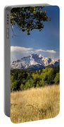 Pikes Peak And Snow Portable Battery Charger