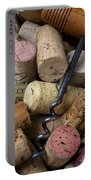 Pile Of Wine Corks With Corkscrew Portable Battery Charger