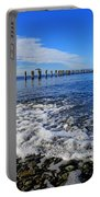 Pilings In The Ocean Portable Battery Charger