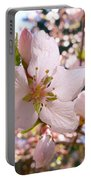 Pin Cherry Blooms Portable Battery Charger