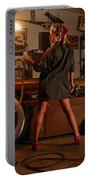 Pin Up Girl With Blow Torch Portable Battery Charger