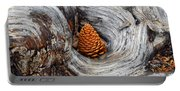 Pine Cone In A Knot  Portable Battery Charger
