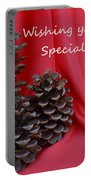 Pine Cones For The Holidays Portable Battery Charger