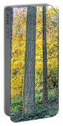 Pine Forest In The Autumn Portable Battery Charger
