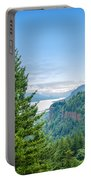 Pine Tree And Columbia River Gorge Portable Battery Charger