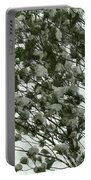 Pine Tree Branches Covered With Snow Portable Battery Charger