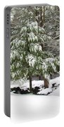 Pine Tree Covered With Snow 2 Portable Battery Charger