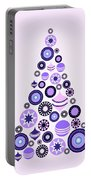 Pine Tree Ornaments - Purple Portable Battery Charger