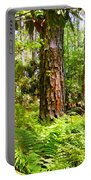 Pine Trees And Ferns Portable Battery Charger