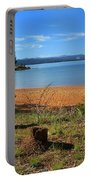 Pine Trees In Lake Almanor Portable Battery Charger