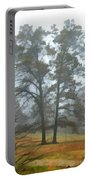 Pine Trees In Mist - Digital Paint 1 Portable Battery Charger