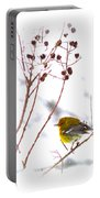 Pine Warbler-img-2143-001 Portable Battery Charger