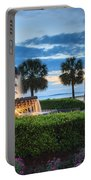 Pineapple Fountain Charleston South Carolina Sc Portable Battery Charger