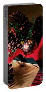 Pinecones Christmasbox Painted Portable Battery Charger