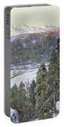Pines In Winter Portable Battery Charger by George Gardner Symons