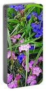 Pink And Blue Garden Portable Battery Charger