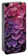 Pink And Blue Hydrangea Portable Battery Charger