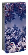 Pink And Blue Morning Frost Fractal Portable Battery Charger