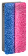 Pink And Blue Portable Battery Charger