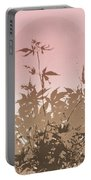Pink And Brown Haiku Portable Battery Charger