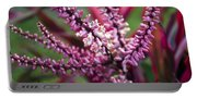 Pink And Cream Cluster Bloom Portable Battery Charger