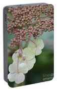 Pink And Green Hydrangea Closeup Portable Battery Charger