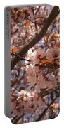 Pink And Leaves Portable Battery Charger