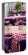 Pink And Purple Dining Portable Battery Charger