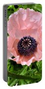 Pink And Purple Poppy Portable Battery Charger