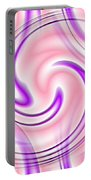 Pink And Purple Portable Battery Charger
