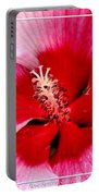 Pink And Red Hibiscus Flower Portable Battery Charger