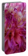 Pink And White Dahlia  Portable Battery Charger
