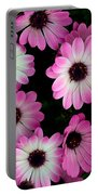 Pink And White Daisies Portable Battery Charger